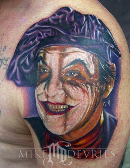 Mike DeVries - The Joker Tattoo